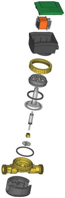 Bezdławicowa pompa obiegowa przekrój, elementy składowe i budowa