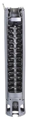 Budowa pompy głębinowej IBO isp wyposażonej w wirniki i dyfuzory ze stali nierdzewnej